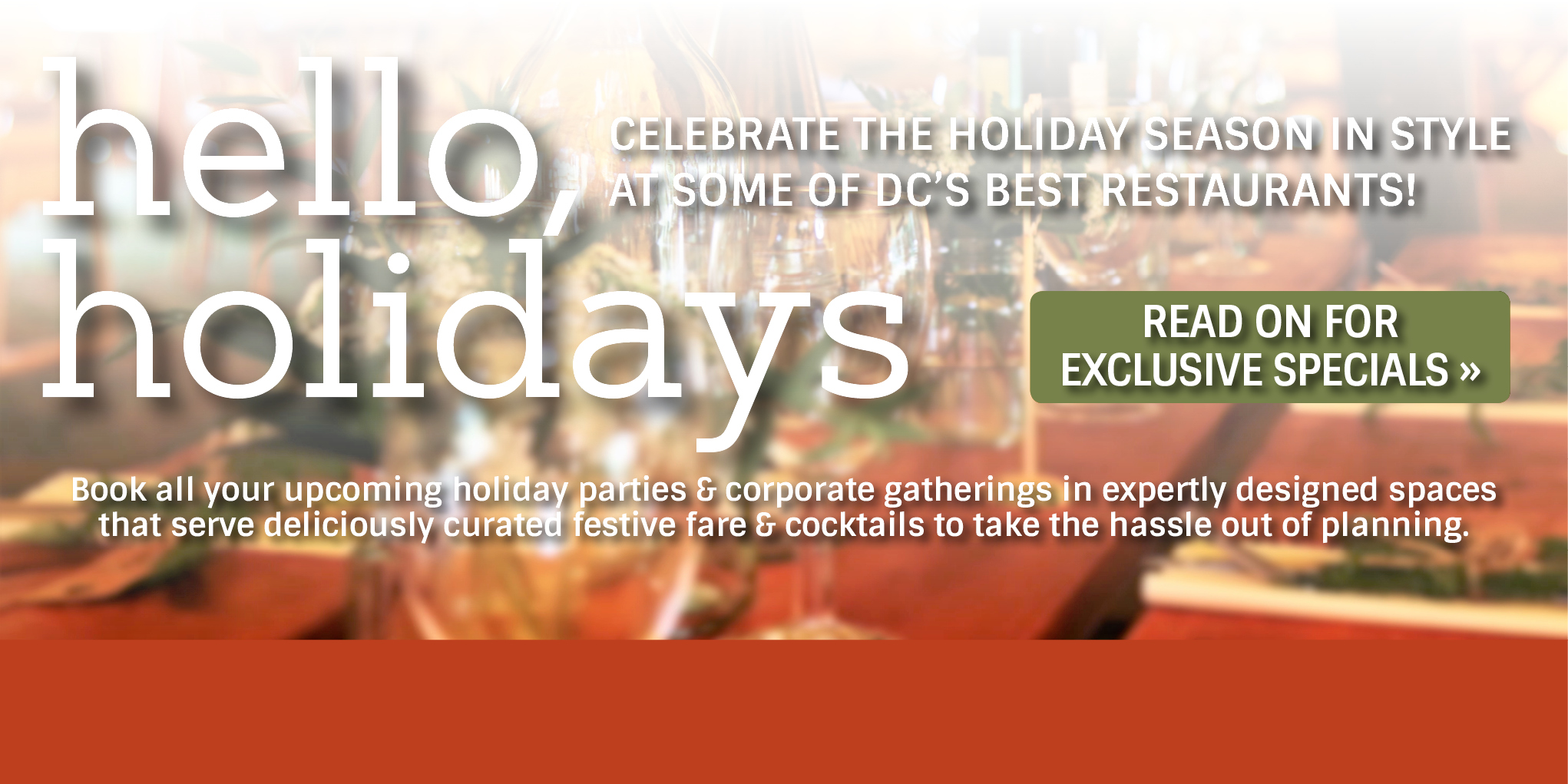 hello holidays dc restaurants offer diners private dining