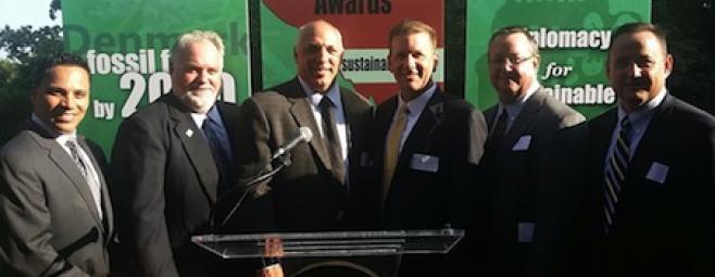ProFish, Ltd. accepting the Sustainable DC Award.